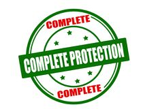 Complete protection. Stamp with text complete protection inside,  illustration Stock Images