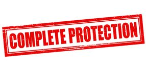 Complete protection. Stamp with text complete protection inside,  illustration Royalty Free Stock Photos