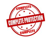 Complete protection. Stamp with text complete protection inside,  illustration Stock Photo
