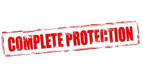 Complete protection. Stamp with text complete protection inside,  illustration Royalty Free Stock Photo