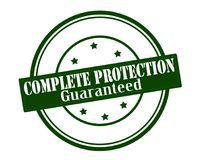 Complete protection. Stamp with text complete protection inside,  illustration Stock Photos