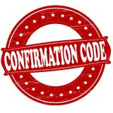 Confirmation code. Stamp with text confirmation code inside,  illustration Royalty Free Stock Photography