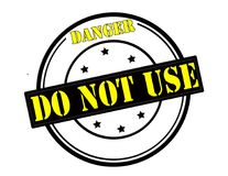 Danger do not use. Stamp with text danger do not use inside,  illustration Royalty Free Stock Photos