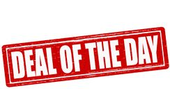 Deal of the day. Stamp with text deal of the day inside,  illustration Stock Photography
