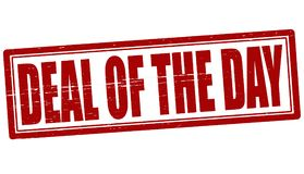 Deal of the day. Stamp with text deal of the day inside,  illustration Royalty Free Stock Images