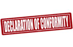 Declaration of conformity. Stamp with text declaration of conformity inside, illustration Stock Photography