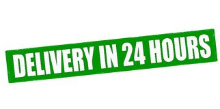 Delivery in twenty four hours. Stamp with text delivery in twenty four hours inside,  illustration Stock Image
