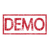 Stamp text demo Royalty Free Stock Images
