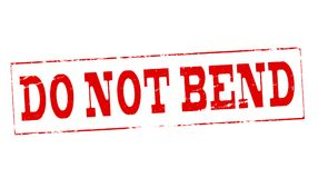 Do not bend. Stamp with text do not bend inside,  illustration Stock Photos