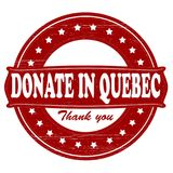 Donate in Quebec. Stamp with text donate in Quebec inside,  illustration Stock Photography