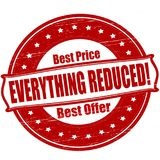 Everything reduced. Stamp with text everything reduced inside,  illustration Royalty Free Stock Photography