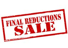 Final reductions. Stamp with text final reduction inside,  illustration Stock Images