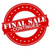 Final sale continues. Stamp with text final sale continues inside,  illustration Royalty Free Stock Images