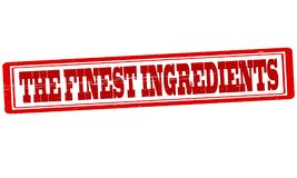 The finest ingredients. Stamp with text the finest ingredients inside,  illustration Royalty Free Stock Photography