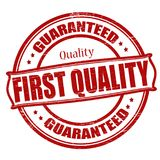 First quality. Stamp with text first quality inside,  illustration Royalty Free Stock Image