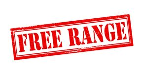 Free range. Stamp with text free range inside,  illustration Royalty Free Stock Photo