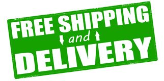 Free shipping and delivery. Stamp with text free shipping and delivery inside,  illustration Royalty Free Stock Image