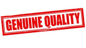 Genuine quality. Stamp with text genuine quality inside,  illustration Royalty Free Stock Photography