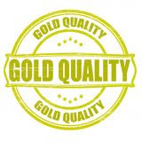Gold quality. Stamp with text gold quality inside, illustration Royalty Free Stock Photo