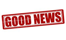 Good news. Stamp with text good news inside, illustration Royalty Free Stock Photos