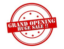 Grand opening. Stamp with text grand openng inside, illustration royalty free illustration