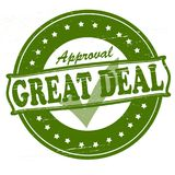 Great deal. Stamp with text great deal inside,  illustration Stock Image