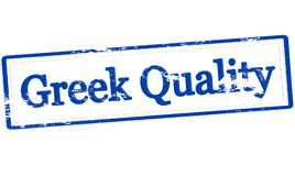 Greek quality. Stamp with text Greek quality inside,  illustration Royalty Free Stock Photos