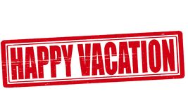 Happy vacation. Stamp with text happy vacation inside,  illustration Royalty Free Stock Photography