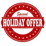 Holiday offer. Stamp with text holiday offer inside, illustration vector illustration