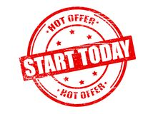 Hot offer stars today. Stamp with text hot offer stars today inside,  illustration Royalty Free Stock Photo