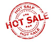 Hot sale. Stamp with text hot sale inside, vector illustration Royalty Free Stock Images