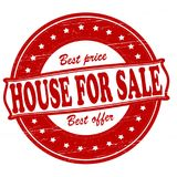 House for sale. Stamp with text house for sale inside,  illustration Royalty Free Stock Images