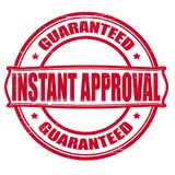 Instant approved. Stamp with text instant approved inside,  illustration Stock Photos