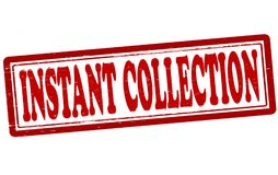 Instant collection. Stamp with text instant collection inside,  illustration Royalty Free Stock Photos