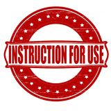 Instruction for use. Stamp with text instruction for use inside,  ilustration Royalty Free Stock Photography