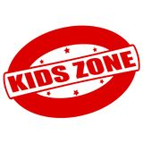 Kids zone. Stamp with text kids zone inside,  illustration Stock Photo