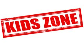 Kids zone. Stamp with text kids zone inside,  illustration Royalty Free Stock Photo