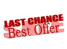 Last chance sale. Stamp with text last chance sale inside,  illustration Royalty Free Stock Photography