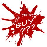 Last minute buy. Stamp with text last minute buy inside, illustration stock illustration