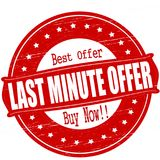 Last minute offer. Stamp with text last minute offer inside,  illustration Stock Photography