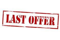 Last offer. Stamp with text last offer inside,  illustration Stock Image