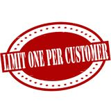 Limit one per customer. Stamp with text limit one per customer  inside,  illustration Royalty Free Stock Images