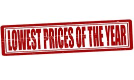 Lowest prices of the year. Stamp with text lowest prices of the year inside, illustration stock illustration