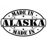 Made in Alaska. Stamp with text made in Alaska inside, illustration royalty free illustration