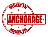 Made in Anchorage. Stamp with text made in Anchorage inside,  illustration Stock Photos