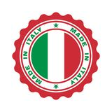 Stamp with text `made in Italy` royalty free illustration