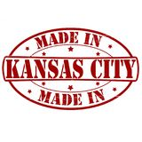 Made in Kansas City. Stamp with text made in Kansas City inside,  illustration Stock Photography
