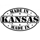 Made in Kansas. Stamp with text made in Kansas inside,  illustration Royalty Free Stock Photo