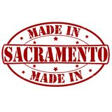 Made in Sacramento. Stamp with text made in Sacramento inside,  illustration Royalty Free Stock Image