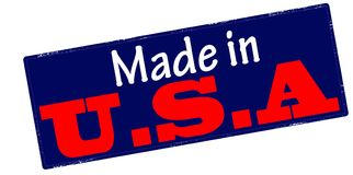 Made in USA. Stamp with text made in USA inside,  illustration Royalty Free Stock Photography